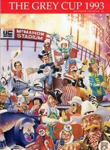 Seven programs from Grey Cup games in the 1990s