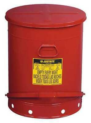 Justrite 09700 Oily Waste Can21 Gal.steelred