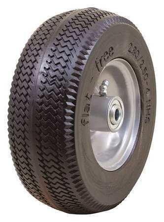 Marastar 00091 Flat Free Wheel, Polyurethane, 275 Lb, Gray, Tread: Sawtooth