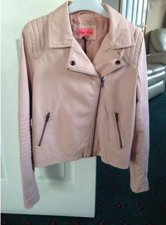 Pink soda pink leather jacket, size 10 UK | in Ballinderry Upper ...