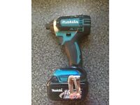 Makita LXT 18v impact driver and 3ah battery not dewalt, Milwaukee, Hilti