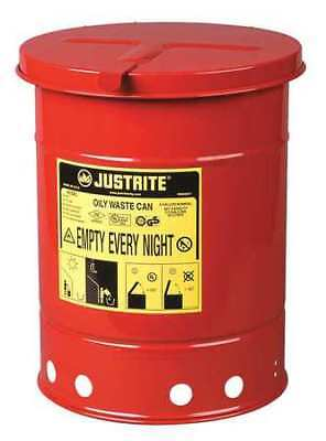 Justrite 09110 Oily Waste Can6 Gal.steelred