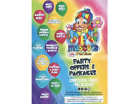 Children's Entertainers,Manned Mascots, Soft Play Hire, Face Painting, Popcorn & CandyFloss Machines