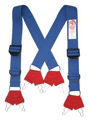 Morning Pride Sp-dfq-l Fire Fighting Pant Suspenders Bluered Non Flame