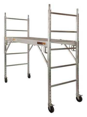 METALTECH I-CAISC Scaffold, 6-5/32 ft.L, Aluminum, 700 lb.