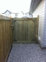 LOOKING TO PUT UP A NEW FENCE OR REPLACE OR OLD ONE?