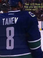 VANCOUVER CANUCKS TICKETS ROW 2 SEC119 AISLE LOWER BOWL SEATS SE
