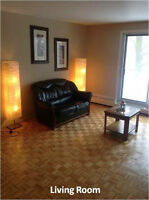 3 closed bedrom, 2 bath spacious appt wit parking, heating & apl