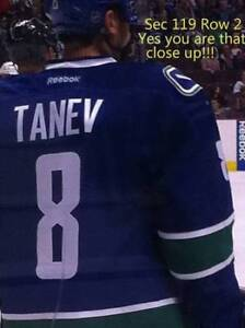VANCOUVER CANUCKS TICKETS SEC 119 ROW 2 AISLE LOWER BOWL