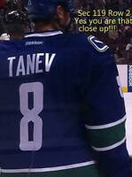 VANCOUVER CANUCKS TICKETS SEC 119 ROW 2 AISLE SEE LIST OF GAMES