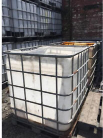 1000lt IBC Tanks with Cages (tops cut off) Scarp selection. Wood, rocks, waist water etc.