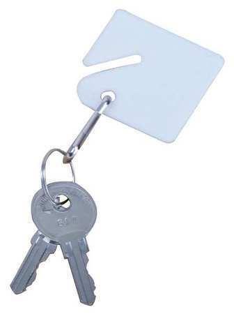 Zoro Select 33J870 Blank Key Tag,Assorted,Pk50