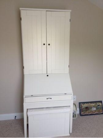 Ikea Hemnes Bureau White Desk With Shelves And Drawers Secretary