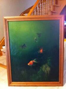Goldfish on canvas