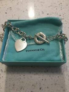 *** AUTHENTIC TIFFANY *** HEART TAG TOGGLE LINK NECKLACE