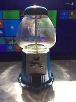 Gumball Bubble Gum Candy Coin Operated Machine Blue Carousel