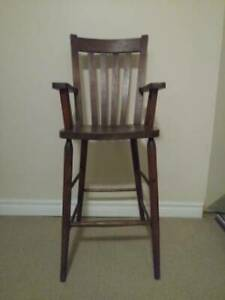 Antique Arts and Crafts high chair mission style furniture