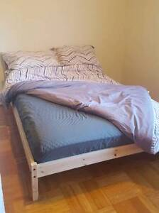 Wooden Ikea Bed and Mattress - $100 (West End)