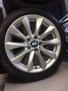 BMW WHEELS AND TIRE PACKAGE 225/45 R18 NEW, ORIGINAL