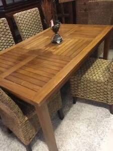 BRAND NEW Condo sized small Solid Wood Teak Table from Indonesia