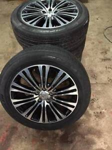235 55 R19 Michelin Pilot HX tires with Chrysler 300S wheels