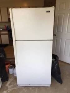 White fridge 30 inches wide and 60 inches high