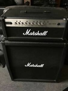 Tête ampli Marshall MG100HCFX , cabinet 4X10'' et footswitch