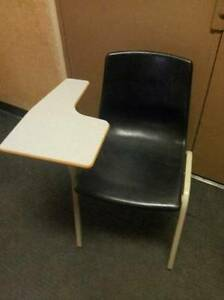Tablet arm desk and assorted chairs. Great condition