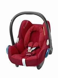 MAXI COSI CABRIOFIX ISOFIX CAR SEATS ROBIN RED EX CONDITION X 2 FRO BIRTH