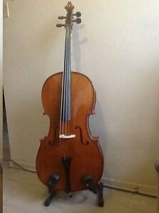 Cello 4/4 Solid Spruce Top/Maple Back,Hard Case,bow - MINT Shape