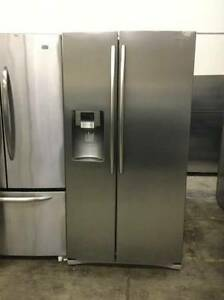 "36"" Stainless Steel Side By Side Double Door Fridge"