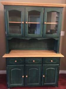 Moving Sale - Kitchen Hutch, Antique table, Cozy Chair