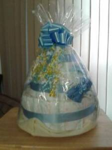"""1 of the gifts I make & sell is """"Diaper Cake"""", 50 PAMPERS + more"""