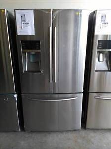 New stainless steel Samsung french door fridge