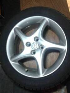 "4 mounted Extreme Avalanche 16"" snow tires - $500 (New West)"