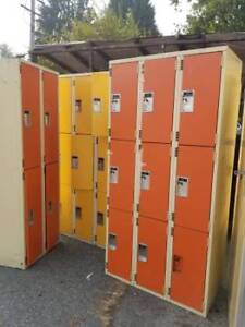 Orange and Yellow 2 Tier and 3 Tier Lockers AND MORE