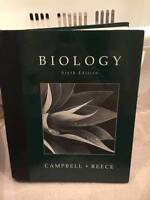 $200 VALUE • Biology 6th Edition - Cambell & Reece