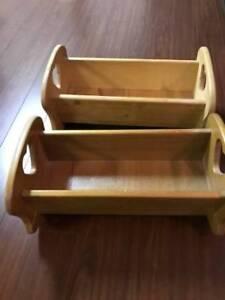 wooden cradles