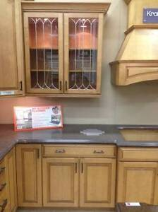Kitchen cabinets and counter