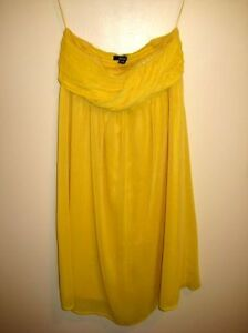 Yellow Strapless Dress (Size 2) - $20 (St George/Bloor)