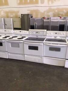 Electric White Coil Top Stove Range