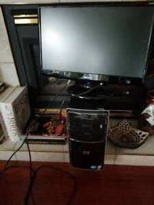 HP Computer with Large Screen Acer Monitor - $300