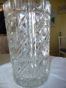 CRYSTAL VASE - 9 INCHES HIGH