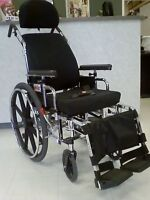 SUPER TILT WHEELCHAIR WITH ROHO CUSION IN LIKE NEW CONDITION