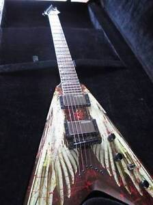 """DEAN DAVE MUSTAINE """"ANGEL OF DETH"""" V GUITAR, not used"""