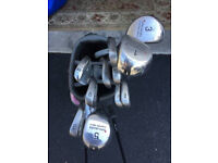 A Complete Set of Ladies Golf Clubs and Bag