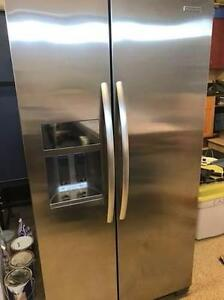 KITCHENAID STAINLESS STEEL DOUBLE DOOR  Fridge With FREE DELIVERY