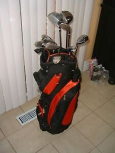 MENS/WOMENS GOLF CLUBS R/L 14 PCS SETS WILSON, SPALD - $125 (tor