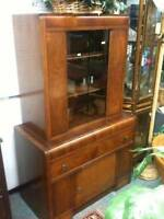 Antique Waterfall China Cabinet