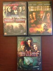 Pirates of the Caribbean 1, 2 and 3